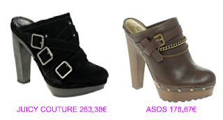 Zuecos Juicy Couture vs Asos