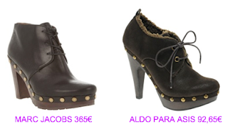 Zuecos Marc Jacobs vs Aldo