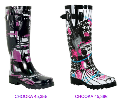 Botas Chooka print colores 2