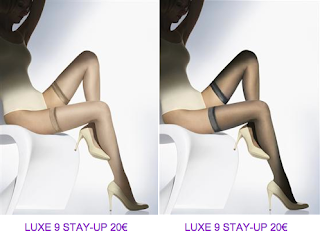 Medias stay-up marfil y gris Wolford 2 2010/2011