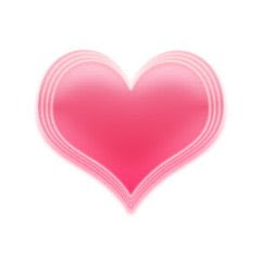 The pink heart tag