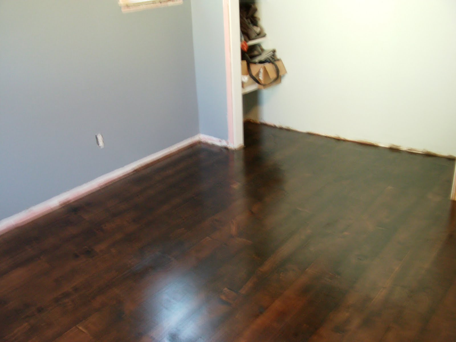 Pine flooring dark stained pine flooring for Dark hardwood floors