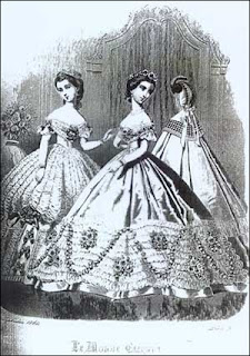 Victorian Women Black and White