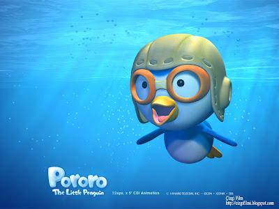 pororo penguen denizde