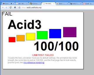 Google Chrome's ACID3 test picture