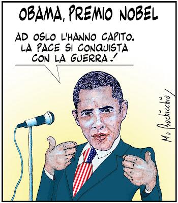 Risultati immagini per premio nobel pace Obama