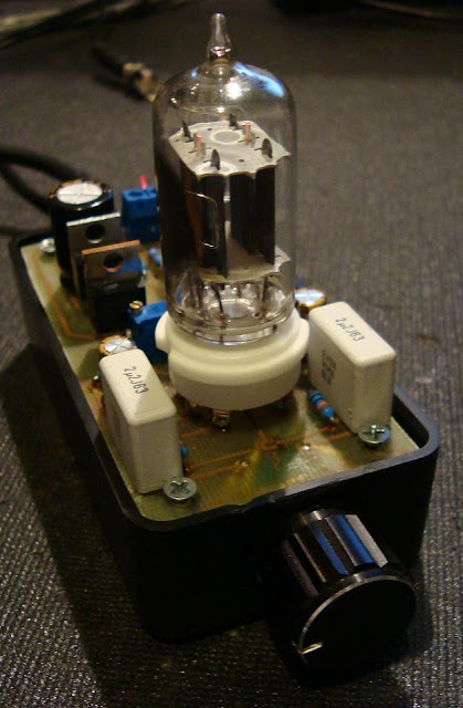 12AU7 Valve / IRF510 Mosfet with LM317 CCS Headphone Amplifier