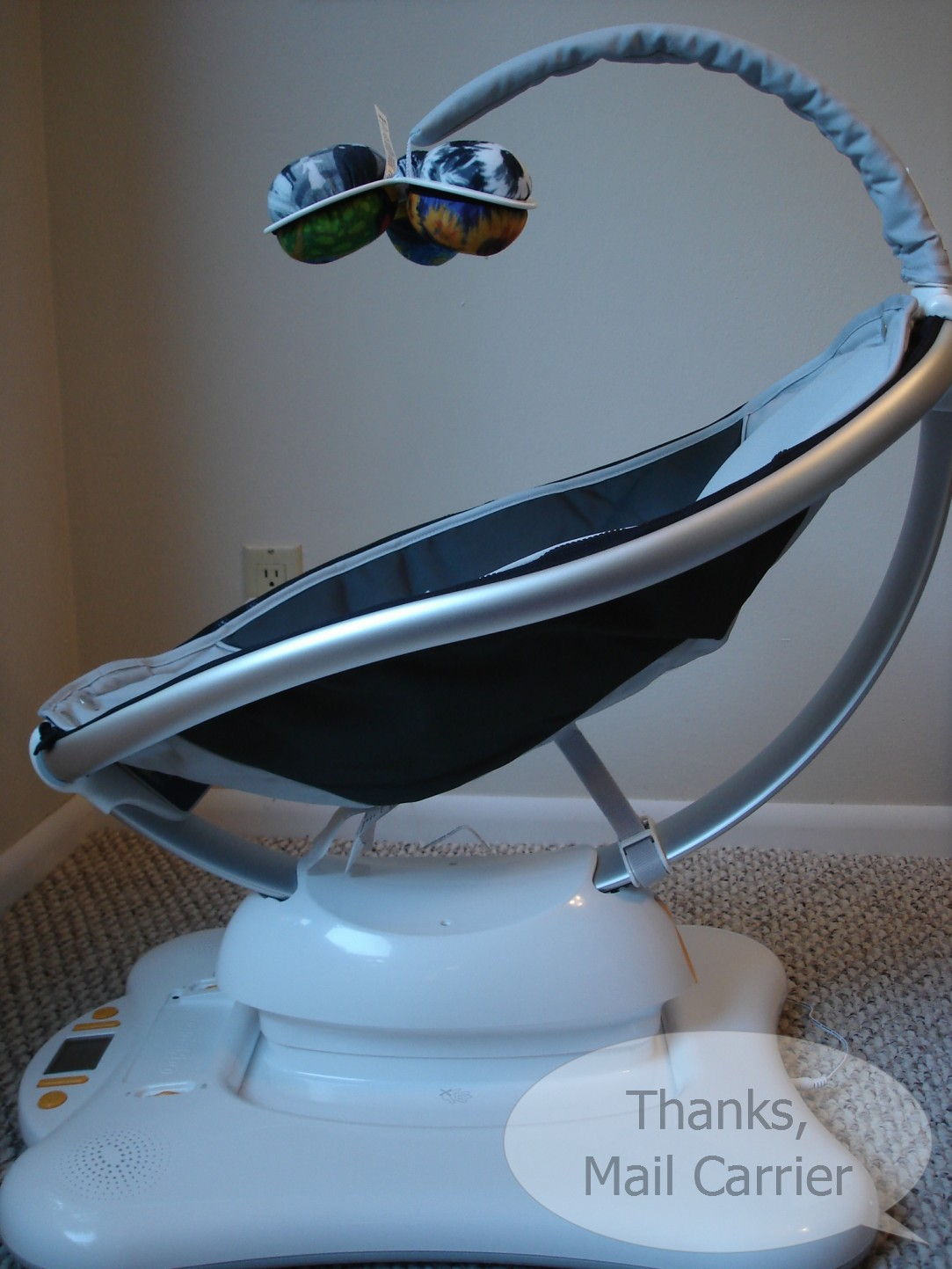 Thanks, Mail Carrier | Anniversary Bash #1: 4moms mamaRoo {Review ...
