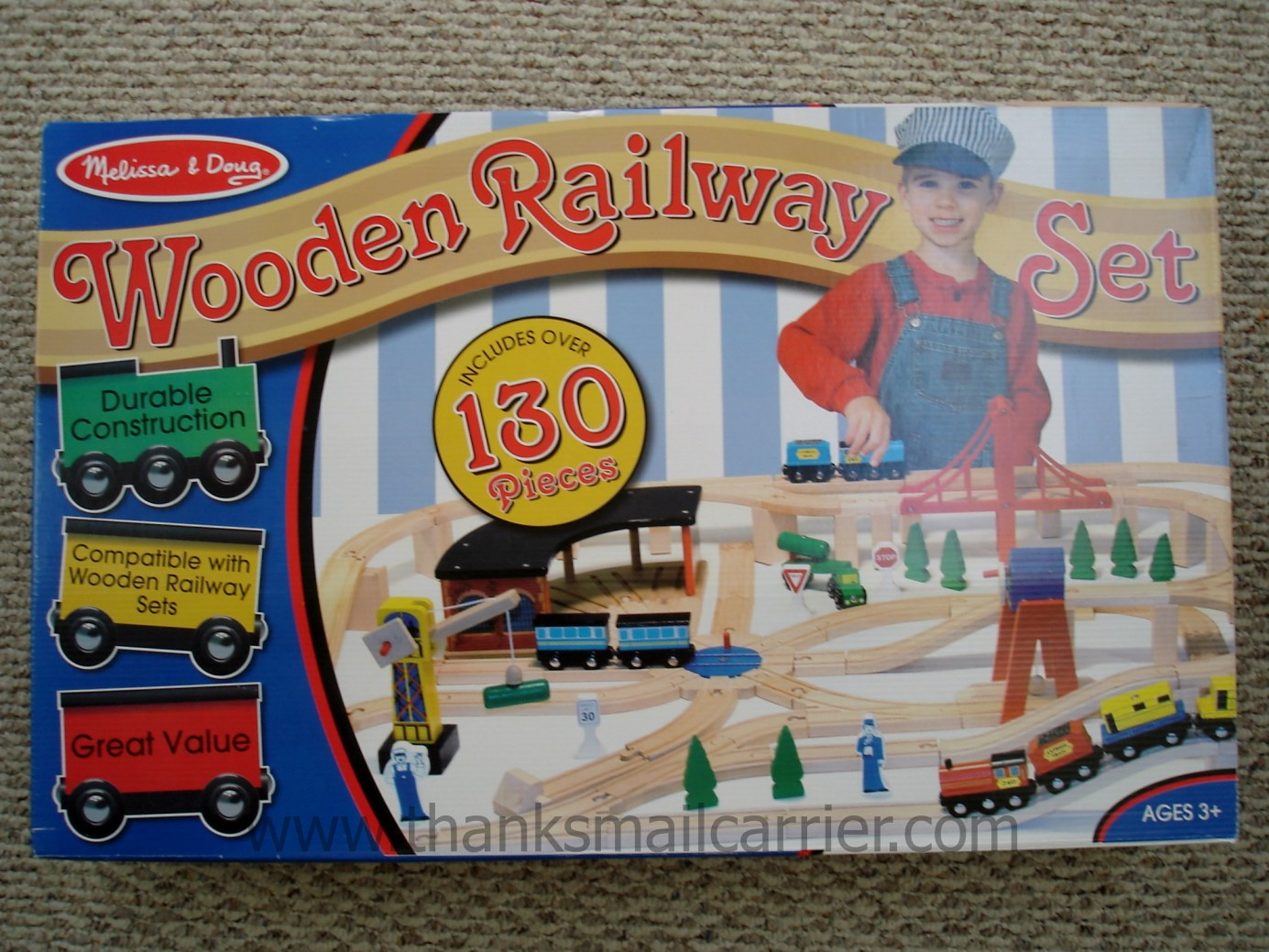 Thanks, Mail Carrier | Melissa & Doug Wooden Railway Set {Review ...