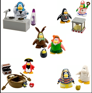 Team Cp Club Penguin Cheats Club Penguin Series 7 Mix N Match Figure Packs