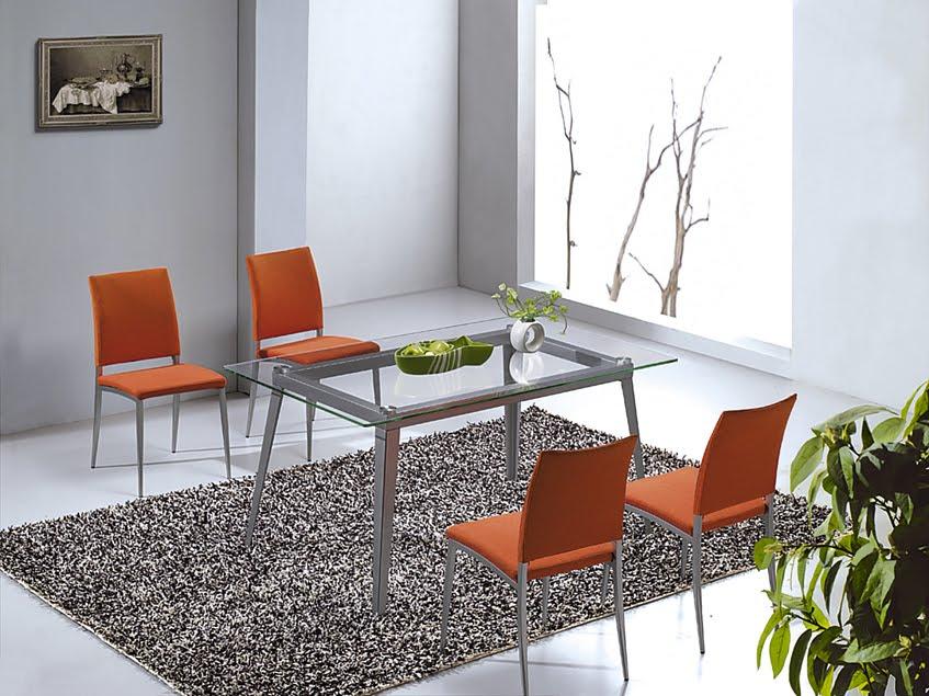 Decoración de interiores brezo: mesas de cristal
