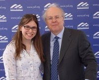 Newly-elected WICR Chairwoman Charlotte Evans with former White House advisor Karl Rove