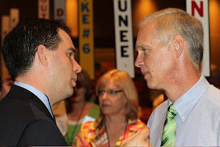 photo of U.S. Senate candidate Ron Johnson and WI Gov. candidate Scott Walker