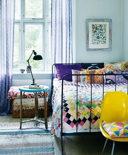 bedrooms with beautiful handmade quilts