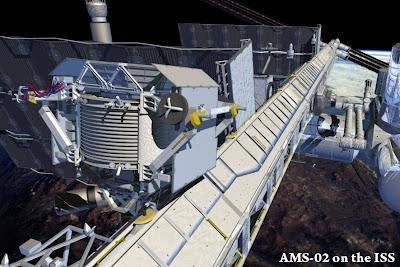 Prototipo del Alpha Magnetic Spectrometer montado en la Estación Internacional. Créditos: CERN.