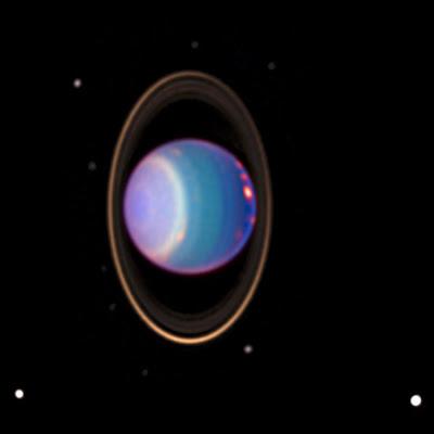 Urano, anillos y sus lunas