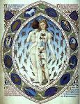 Iluminura Medieval contendo o zodíaco.
