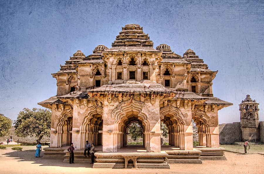 HDR Image of Lotus Mahal, Hampi.