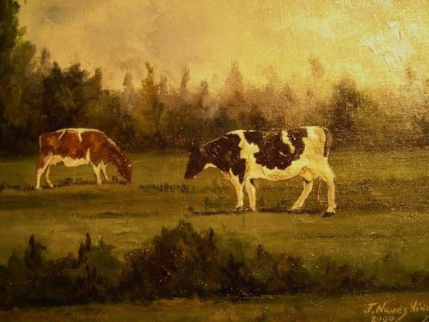 Cuadros de paisajes de asturias - Cuadros de vacas ...