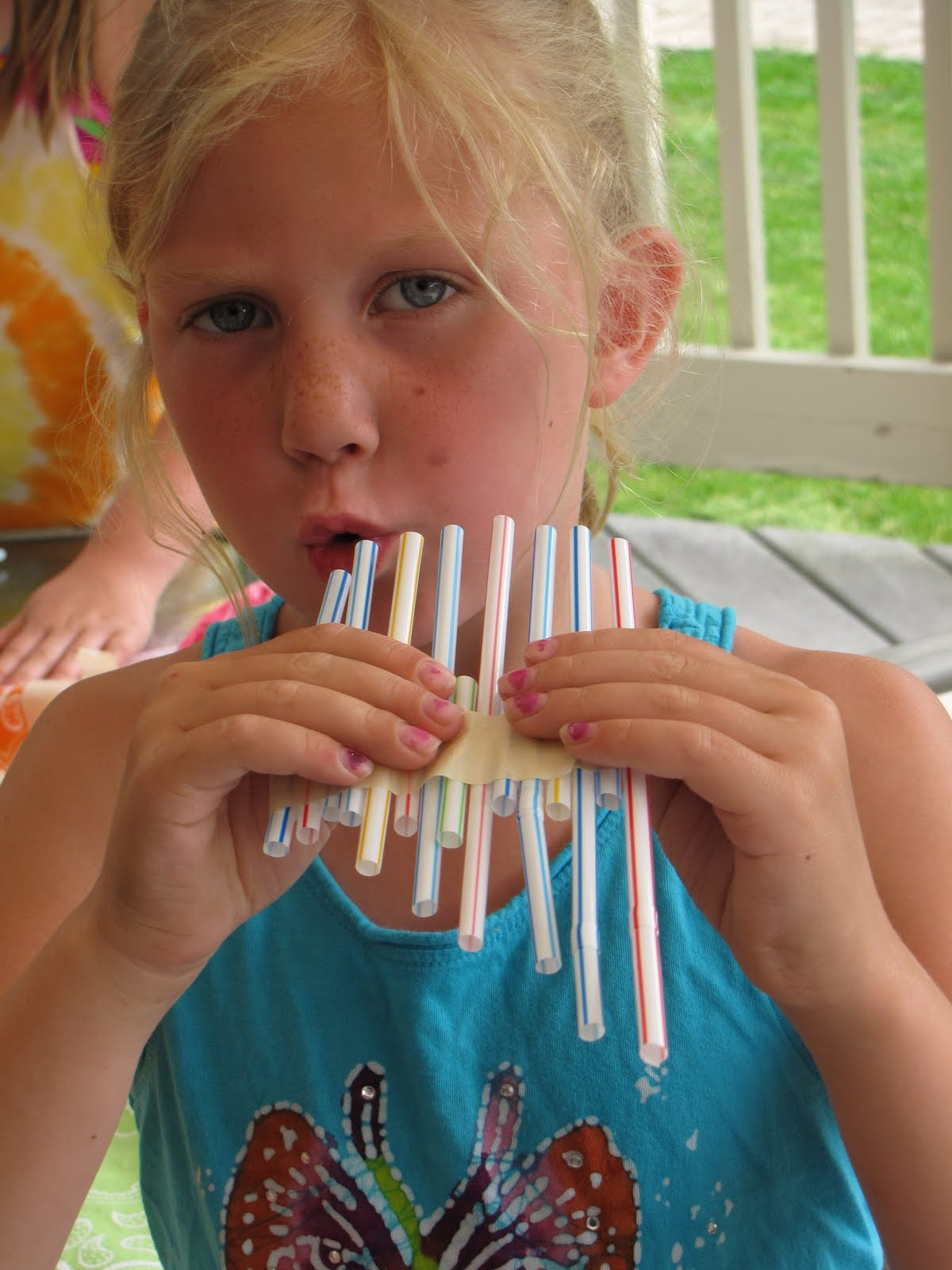 James family life making homemade musical instruments