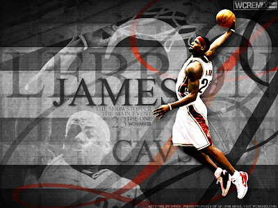 lebron james dunk. makeup Lebron James Desktop