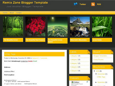 Remix Zone Blogger Template