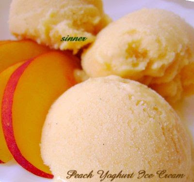 Peach Yoghurt Ice Cream
