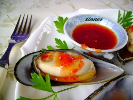 Mussel with Thai sweet chilli sauce