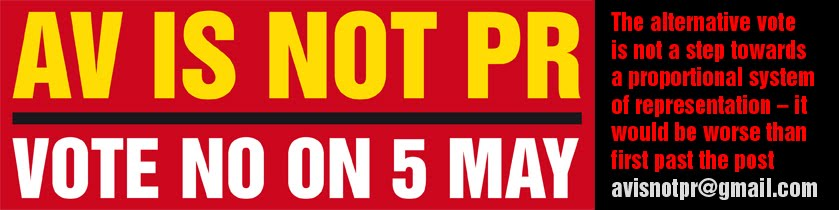 AV is not PR - vote no on 5 May