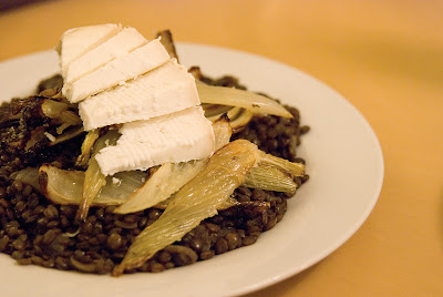 Lentils with Ticklemore Cheese