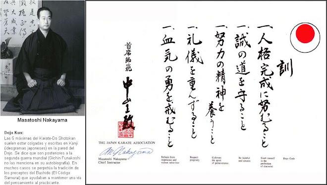 DOJO KUN, por MASATOSHI NAKAYAMA SENSEI