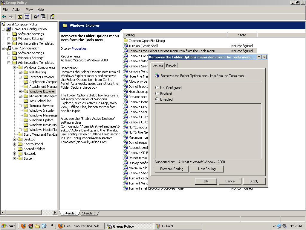 How to Fix Folder Options Missing Problem