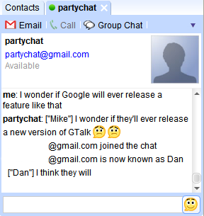 Chat Rooms for Google Talk