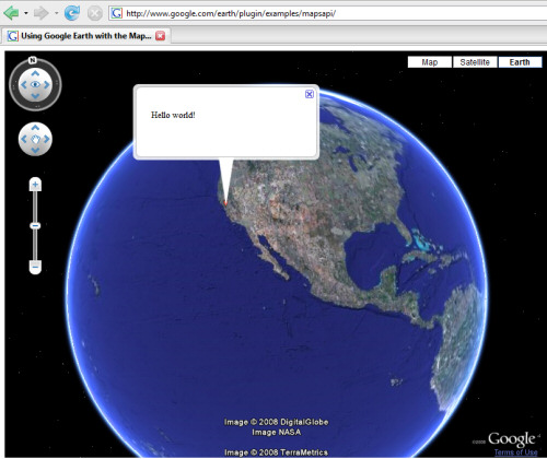 google maps images. Google Earth Browser Plugin