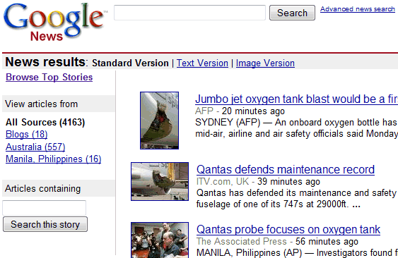 GOOGLE NEWS Source Filtering
