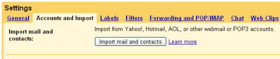 gmail-accounts-and-import GMail importe vos contacts et mails Yahoo Mail, Hotmail et Caramail en quelques clics