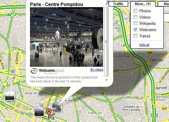 Webcams Google Maps
