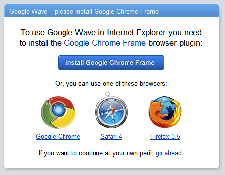 Google Wave sur IE