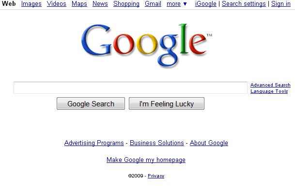 Google 39 S Homepage Goes Back To Basics