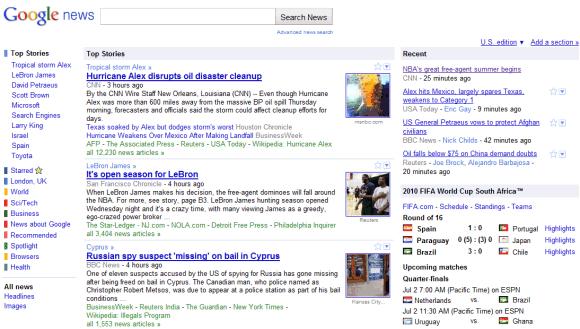 Google news japan