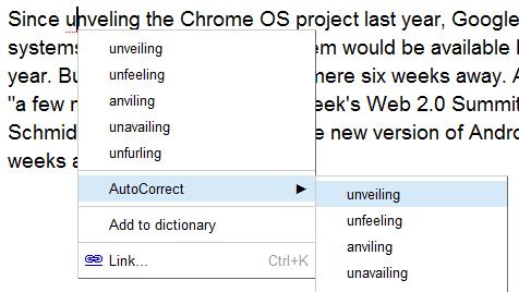 Google docs autocorrect for Google docs add autocorrect