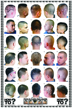 Barber Haircut Chart : Fade Haircut: Haircut posters