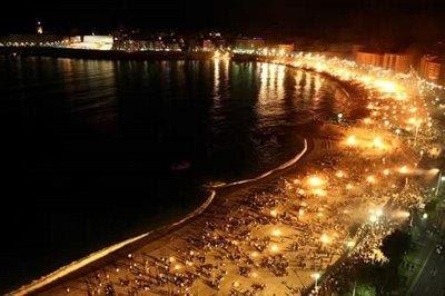 Hogueras de San Juan en A Coruña Riazor