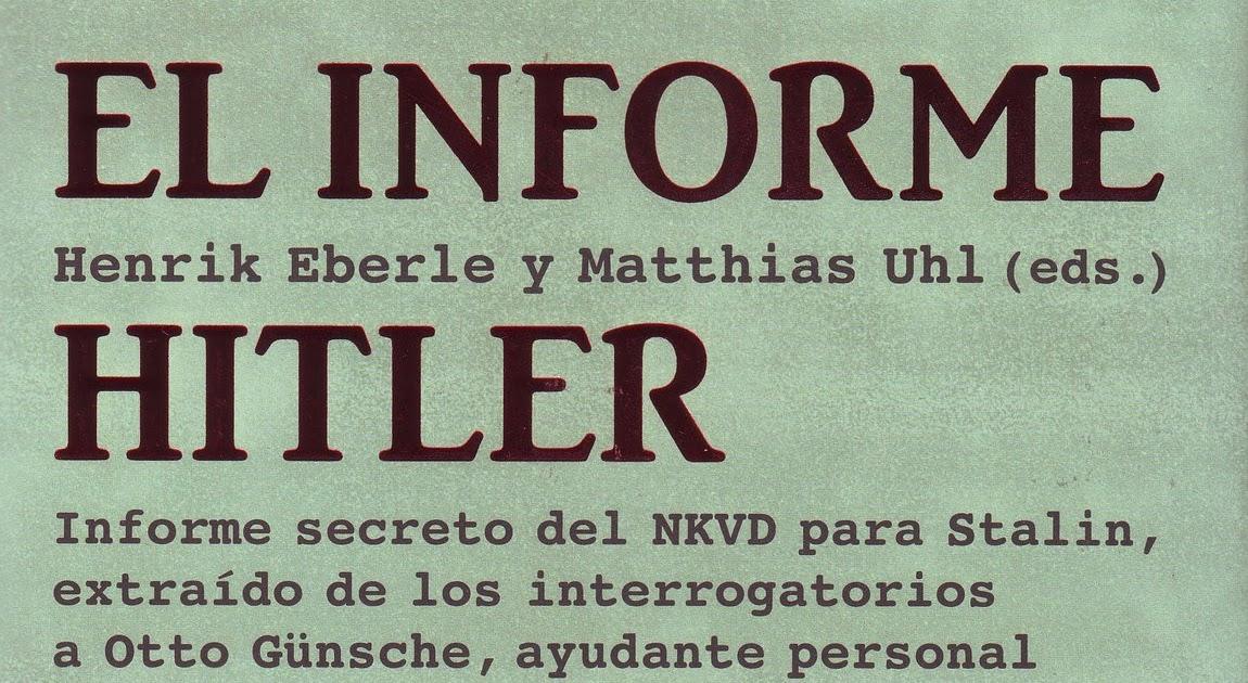 Mein Führer: El Informe Hitler Hitler Soy Yo