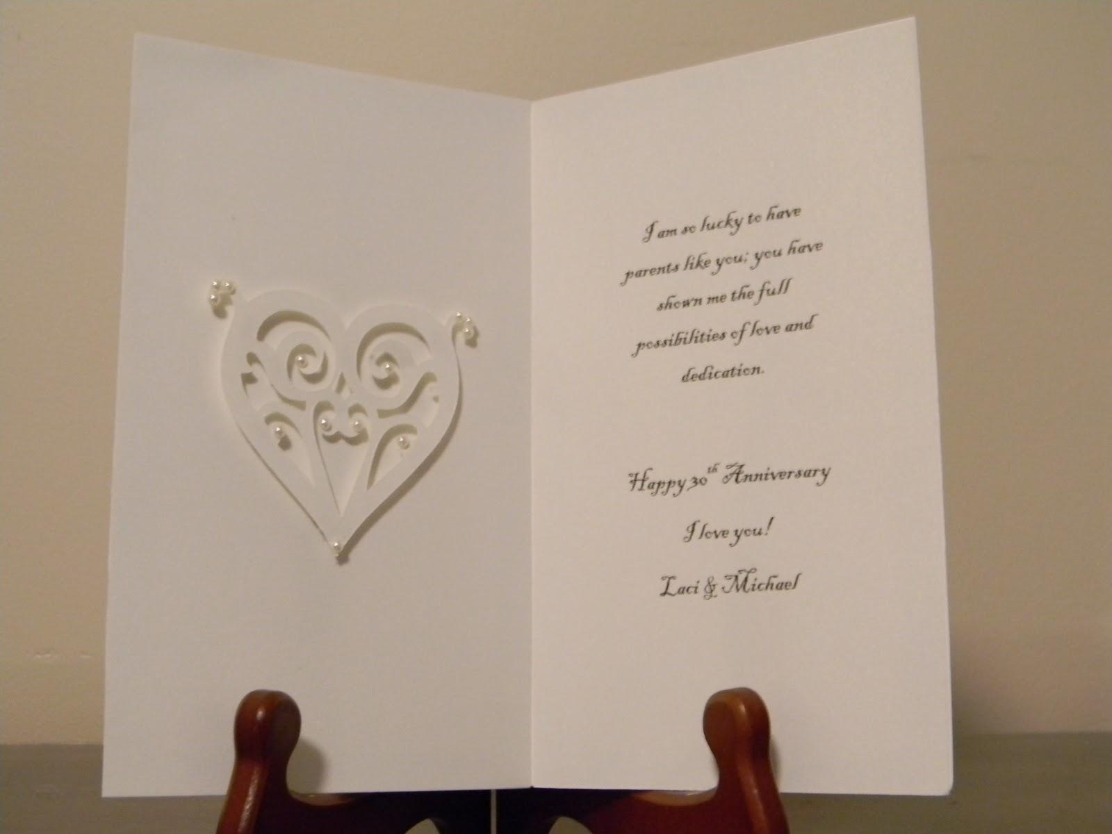 Lacibland819 Mom Dads 30th Wedding Anniversary Card