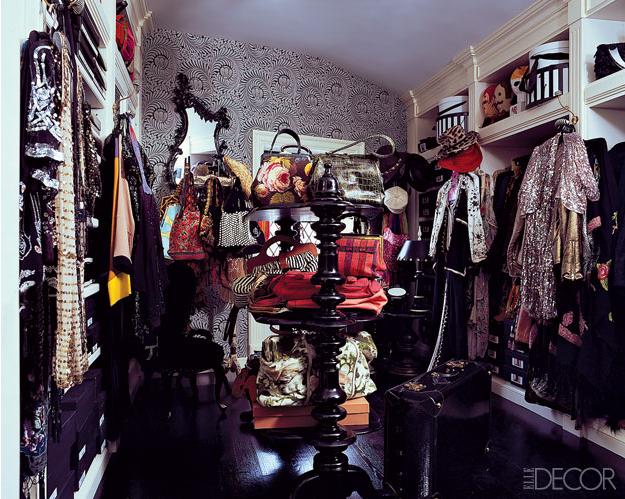 Dream closet. Walk in closet. Celebrity closets. Walk in closet ideas. Elle decor.