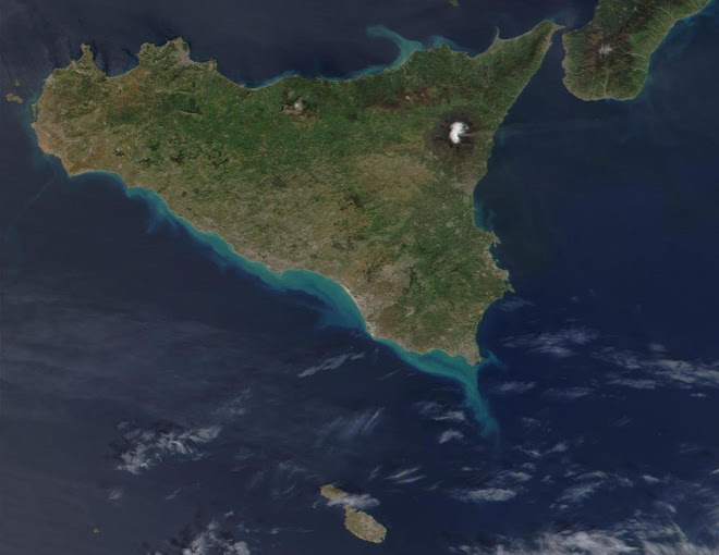 Malta & Sicily from space