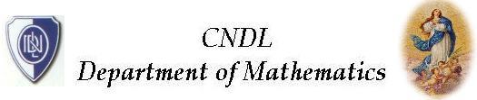 CNDL Mathematics Department