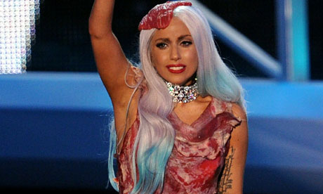 was lady gaga meat dress real. lady gaga meat dress real