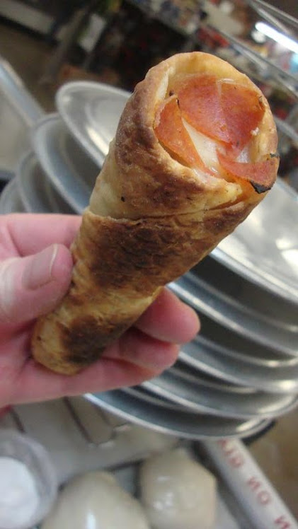 Pizza Cone Made at Market